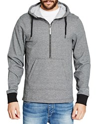 Bench Soul Contrast Cuff Hoodie Grey