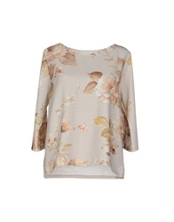 Pink Memories Blouses Light Grey