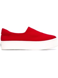 Opening Ceremony Platform Sneakers Red