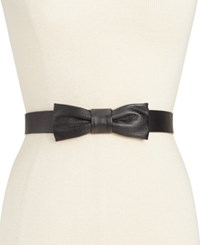 Kate Spade New York Shrunken Leather Bow Belt Black