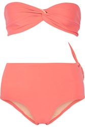 Solid And Striped The Grace Bandeau Bikini Top Baby Pink
