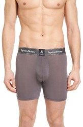 Psycho Bunny Men's Luxe Stretch Boxer Briefs Charcoal Grey