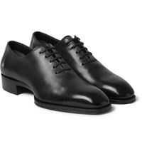 Tom Ford Whole Cut Leather Oxford Shoes Gray