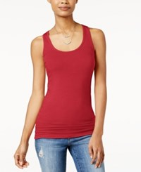 Planet Gold Juniors' Racerback Tank Top Chinese Red