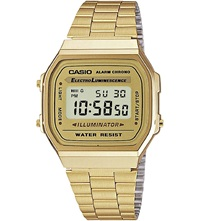 Casio A168wg9ef Unisex Gold Plated Digital Watch