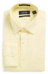Men's Nordstrom Men's Shop Traditional Fit Non Iron Dress Shirt Yellow Canary