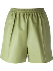 Givenchy Pleated Shorts Green
