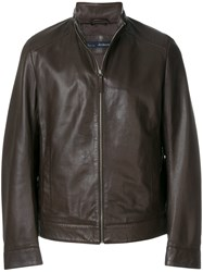 Jeckerson Zipped Fitted Jacket Brown