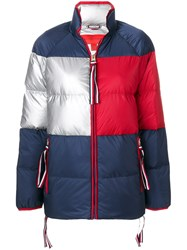 Hilfiger Collection Icon Short Down Coat Feather Down Polyamide Polyester Blue