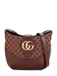 Gucci Arli Original Gg Leather Shoulder Bag Sahara Rubino