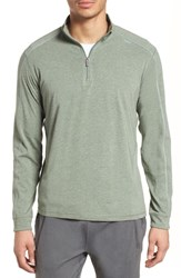 Tasc Performance Carrollton Quarter Zip Sweatshirt Kelp Heather