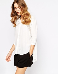 Goldie Always Be Blouse With Lace Detail White