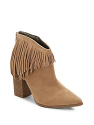 Kenneth Cole Reaction Point Toe Suede Ankle Boots Almond