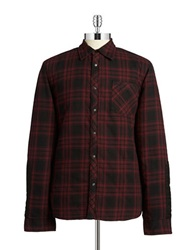 Rogue State Plaid Flannel Jacket Red