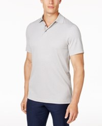 Tasso Elba Men's Supima Blend Jacquard Polo Only At Macy's Blade Grey