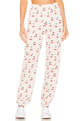 Wildfox Couture Cherry Oh Baby Easy Sweatpant Ivory