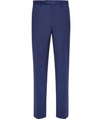 Austin Reed Plain Slim Fit Suit Trousers Blue
