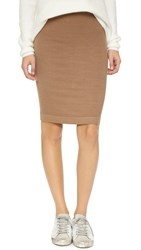 Enza Costa Ribbed Pencil Skirt Sand
