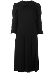 Comme Des Garcons Pleated Detailing Dress Black