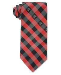 Eagles Wings Atlanta Falcons Checked Tie Black Red