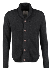 Tom Tailor Cardigan Black Grey Melange Anthracite
