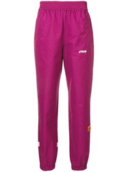 Heron Preston Patch Detail Track Pants Purple