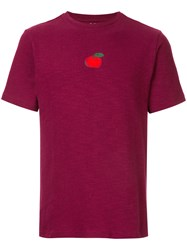 Jupe By Jackie Embroidered Apple T Shirt Cotton Spandex Elastane S