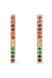 Sydney Evan 14 Karat Gold Sapphire Earrings One Size