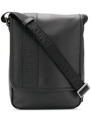 Emporio Armani Embossed Logo Messenger Bag Black