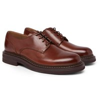 Brunello Cucinelli Leather Derby Shoes Brown