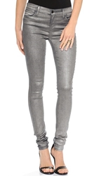 J Brand 624 Stacked Super Skinny Stocking Jeans Midnight Metal