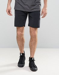 Selected Homme Denim Shorts With Raw Hem In Slim Fit 6694 Washed Black