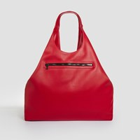 Jlew Bags Cruelty Free Triangle Top Tote Lava Red