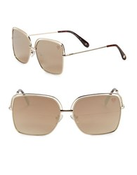 Vince Camuto 62Mm Square Sunglasses Gold