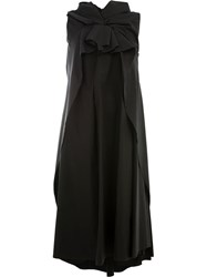 Aganovich Oversized Knot Detail Dress Black