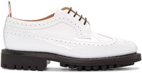Thom Browne White Patent Classic Longwing Brogues