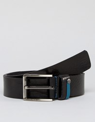 Ted Baker Leather Belt With Highlight Keeper Black