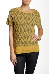 Luma Chiffon Trim Sweater Yellow