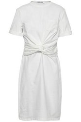 W118 By Walter Baker Trish Twisted Cotton Blend Jersey Mini Dress White