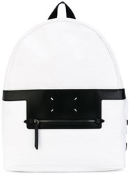 Maison Martin Margiela 'Live A Message' Backpack Men Elastodiene One Size White