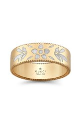 Gucci Women's Icon Band Ring Yellow Gold