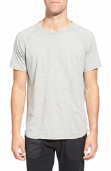 Reigning Champ Jersey Raglan Crewneck T Shirt Heather Grey