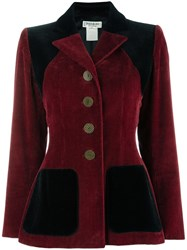 Yves Saint Laurent Vintage Corduroy Jacket Red