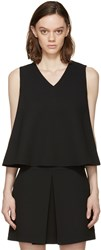 Mcq By Alexander Mcqueen Black A Line Tank Top