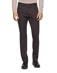 Calvin Klein Four Pocket Sateen Bowery Casual Pants Espresso