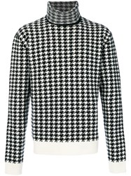 Haider Ackermann Houndstooth Pattern Jumper Men Cashmere Wool M Black