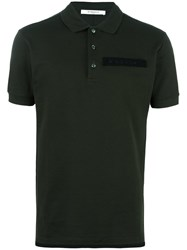 Givenchy Logo Plaque Polo Shirt Green
