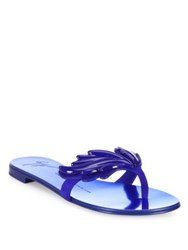 Giuseppe Zanotti Suede Wing Thong Sandals Cobalt