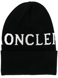 Moncler Logo Hat Black