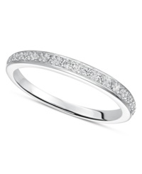 Macy's Diamond Wedding Band Ring In Sterling Silver 1 8 Ct. T.W.